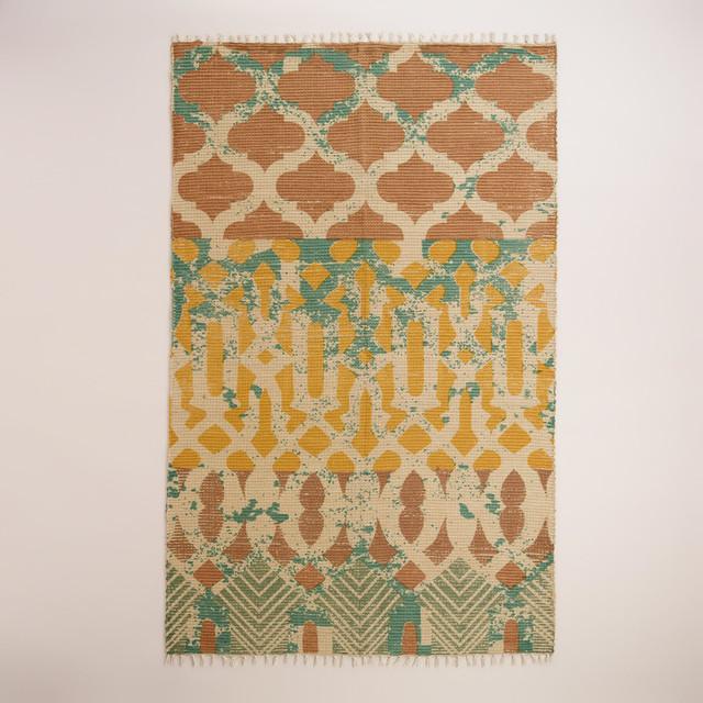 5'x8' Moroccan Tile Jute Area Rug