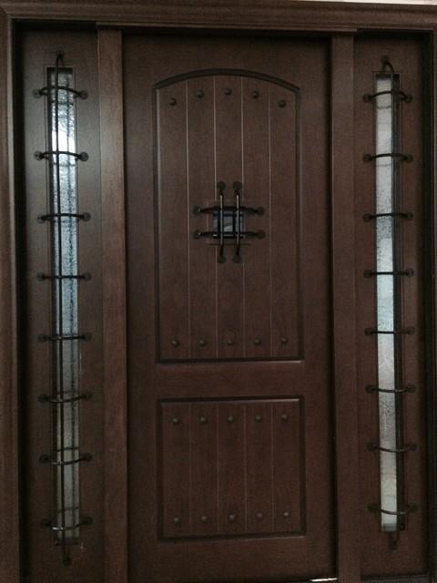 Rustic Alder Entry Door Metal Core 73 5 X97 X5 5 Traditio