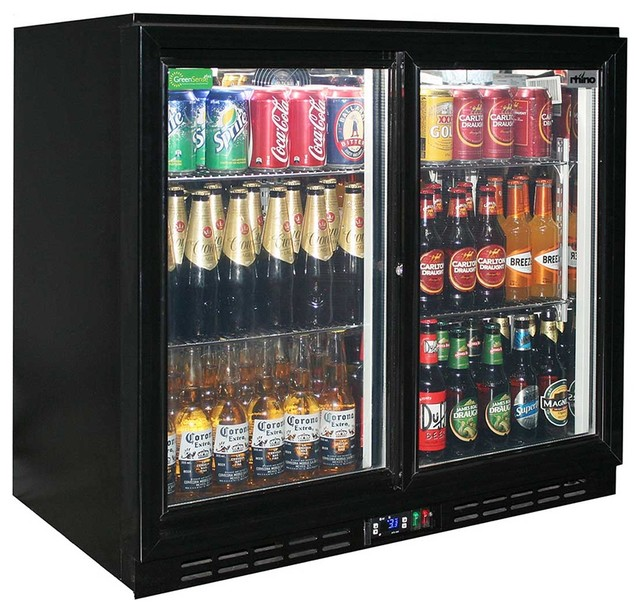 Sliding 2 Glass Door bar fridge - Contemporary - Beer And Wine Refrigerators - by bar-fridges ...
