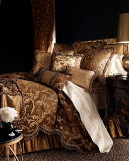 Sweet Dreams Gold Leaf Bed Linens - Traditional - Bedding ...