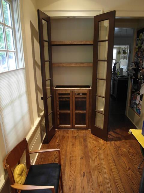 Closet Liquor Cabinet - Traditional - atlanta - by True Carpentry and Cabinetry