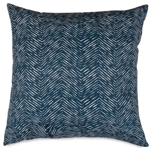 Navy Navajo Pillow Contemporary Outdoor Cushions