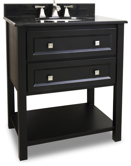 Adler Bath Elements Vanity Painted Black Transitional Bathroom Vanities And Sink Consoles