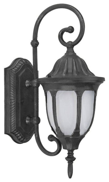 Home decor wall mounted merili collection 1 light black outdoor