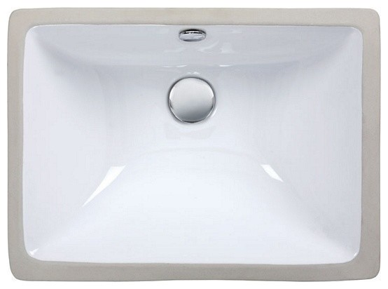 Undermount Sink 18 Vitreous China Sink Contemporary Bathroom Sinks By Plfixtures
