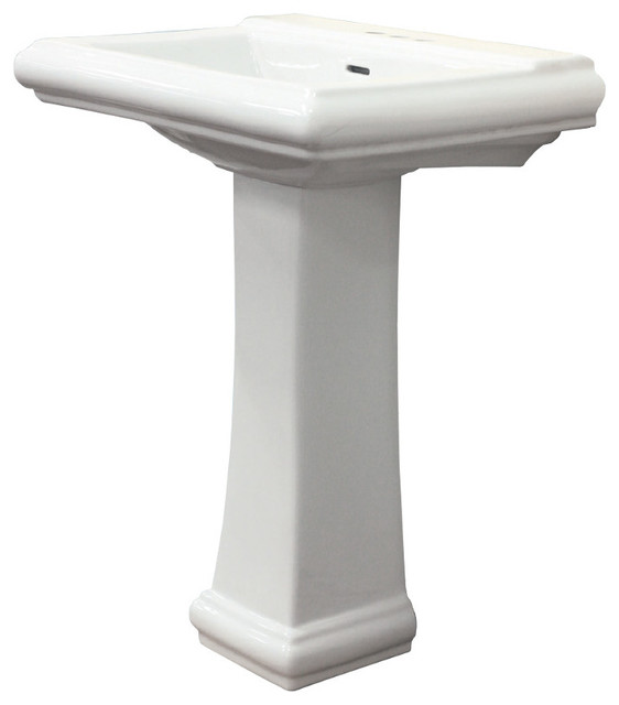 Two-Piece Avalon Pedestal Lavatory, White, 8