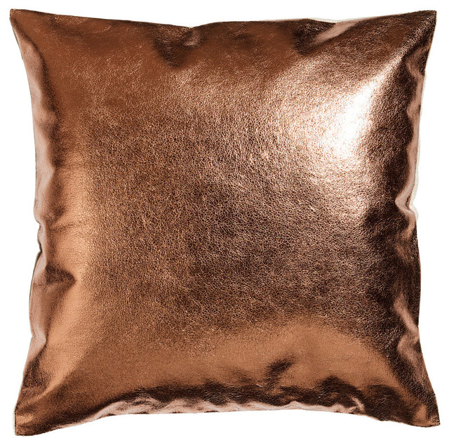 Metallic Linen Cushion Cover Copper Eclectic
