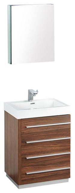 Fresca Livello Vanity w/ Medicine Cabinet - Modern ...