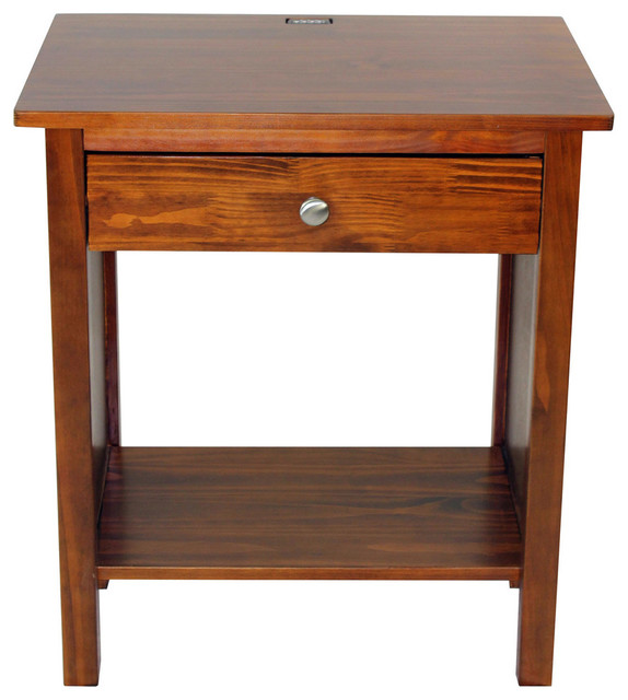 Vanderbilt Night Stand End Table With 4 Usb Ports