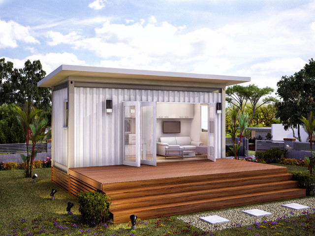 Monaco granny flats prefab container home modern brisbane by nova deko - Container homes queensland ...