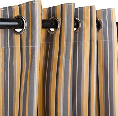 Sunbrella Outdoor Curtain Nickel Grommets Foster Metalic 50 X84 Curtains By Patio