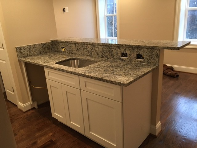 dallas white granite - Industrial - Kitchen - dc metro - by KNC ...