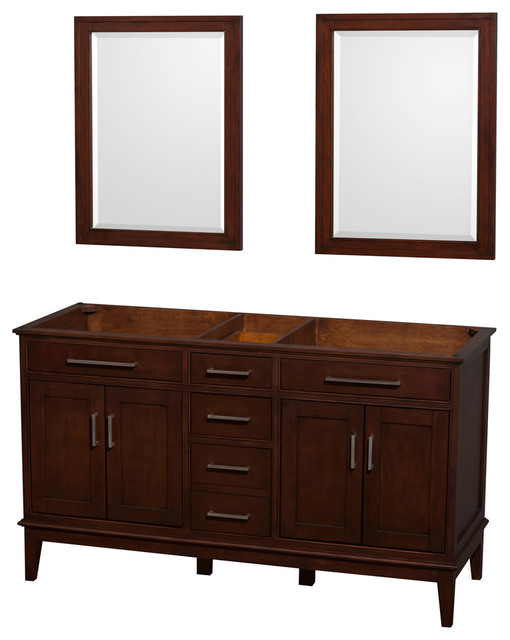 60 In Eco Friendly Double Vanity With 2 Mirrors Contemporary Bathroom Vanities And Sink