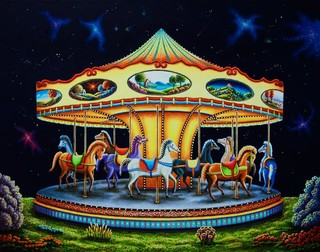 Carousel dreams wall mural contemporary wall decals for Carousel wall mural