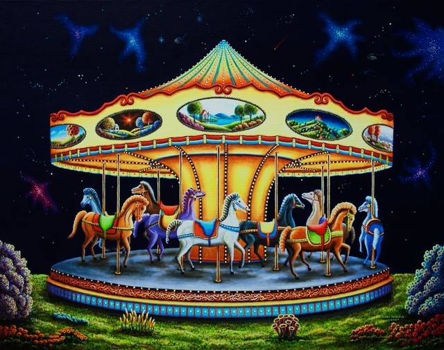Carousel dreams wall mural contemporary wall stickers for Carousel wall mural