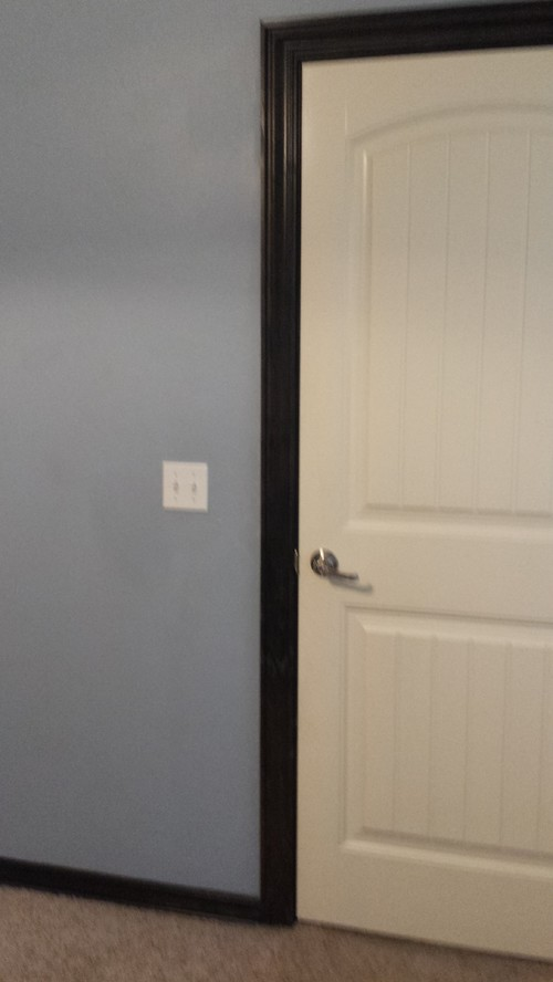 Door trim different color then baseboard for Baseboard and door trim