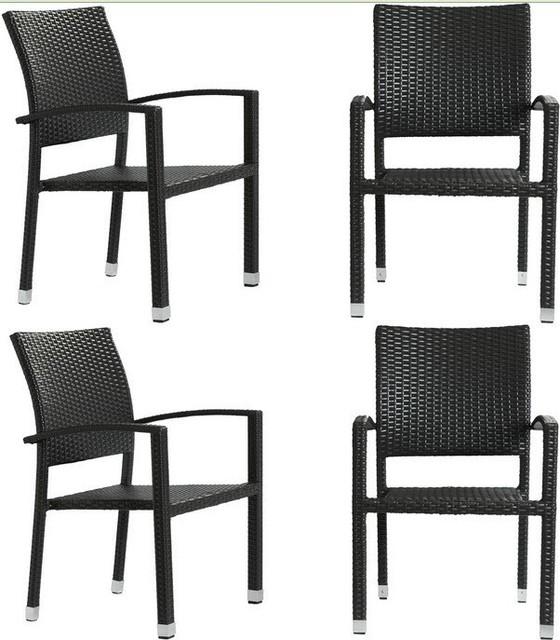 ella patio chairs espresso set of 4 modern garden