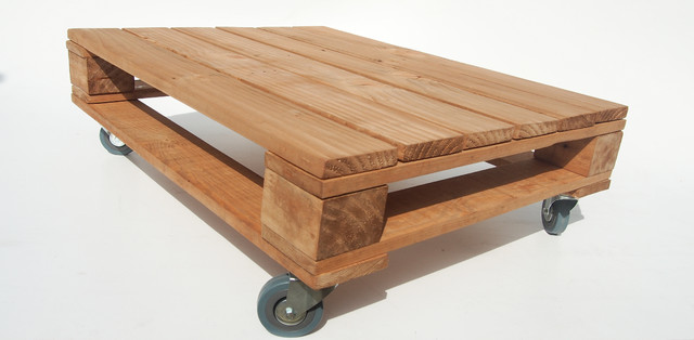 Pallet Coffee Table On Castor Wheels Industrial Coffee Tables Other By Mallets Pallets