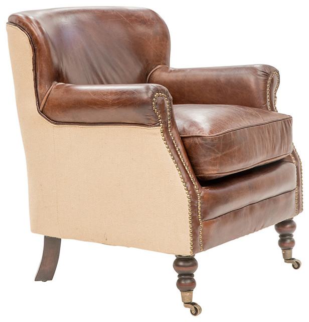 Ralston Armchair With Farmhouse Linen Traditional Armchairs And Accent Ch
