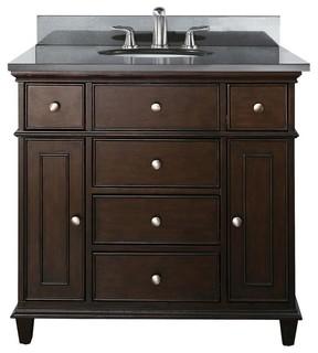 Avanity Windsor 36 In Vanity Combo Contemporary Bathroom Vanity Units A
