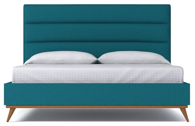 Cooper Upholstered Bed From Kyle Schuneman Biloxi Blue Scandinavian