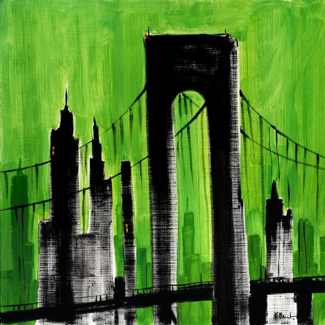 City scape green wall mural contemporary wallpaper for City scape mural