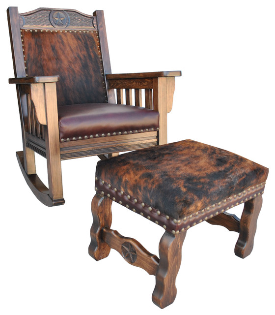 ... Rocking Chair, Cowhide, Rocking Chair and Ottoman southwestern-rocking