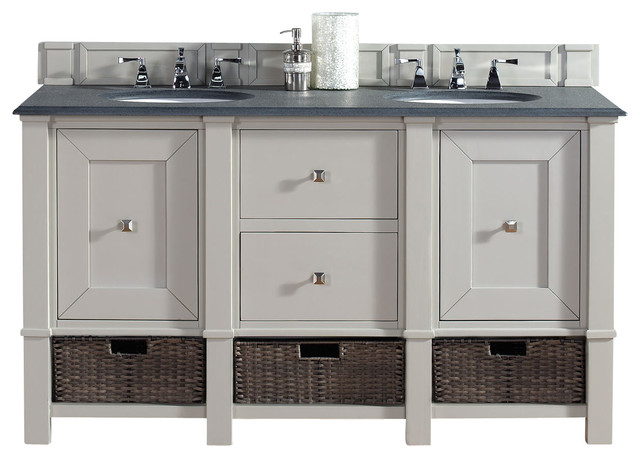 James Martin Furniture Madison  Dove Gray Double Vanity Bathroom