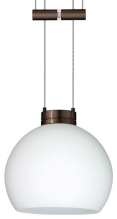 Palla 5 bronze one light mini pendant with opal matte for Window palla design