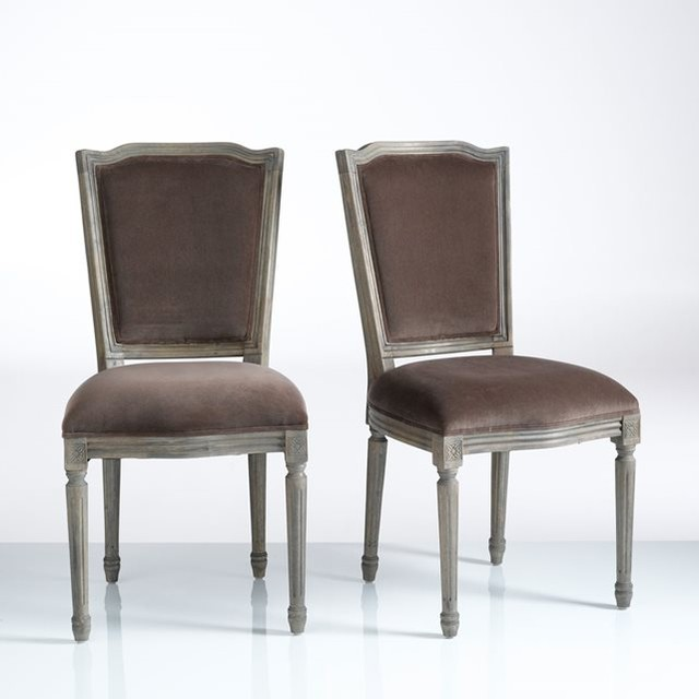 Chaise style louis xvi velours lot de 2 trianon for Chaise de salle a manger la redoute