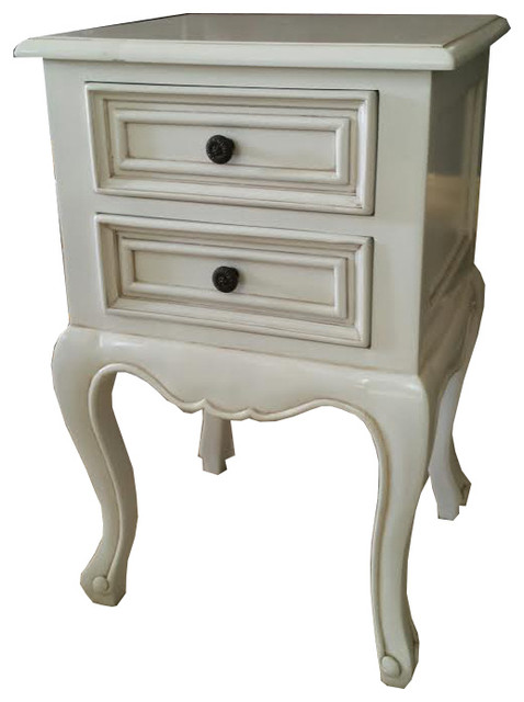 Sarah french provincial farmhouse nightstand table in for French nightstand bedside table