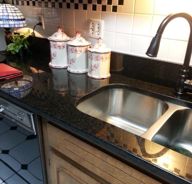 Black Pearl Granite Countertop * Updating An Older Kitchen