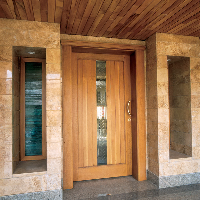 Pics for modern wooden front doors for Beautiful wood front doors