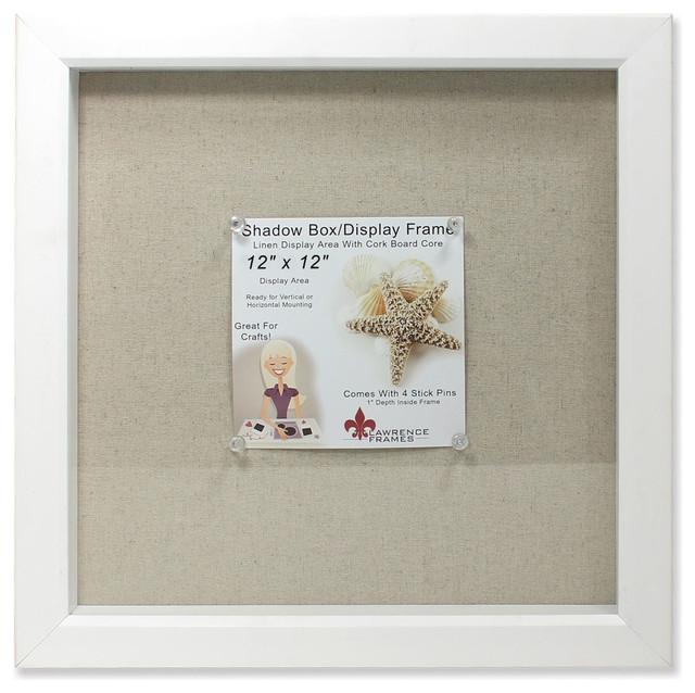 12x12 White Shadow Box Frame Linen Inner Display Board