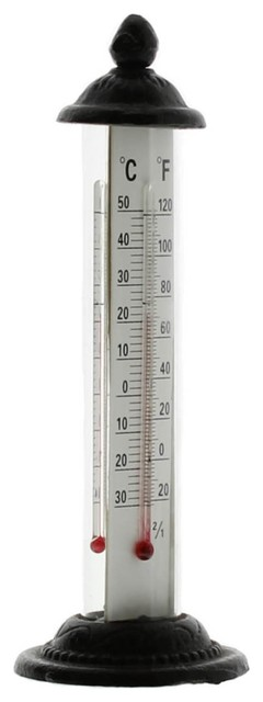 cast iron garden thermometer traditional decorative thermometers by tasteful home decor. Black Bedroom Furniture Sets. Home Design Ideas