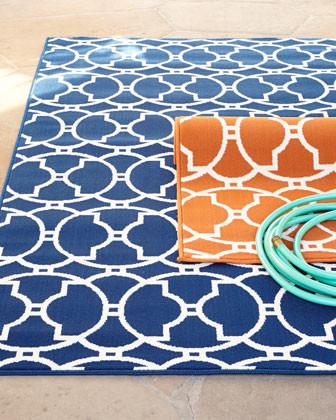 Blue Outdoor Carpet Roll - Carpet Vidalondon
