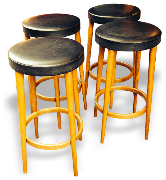 4 tabourets de bar ann es 50 r tro chaise et tabouret for Chaise et tabouret de bar