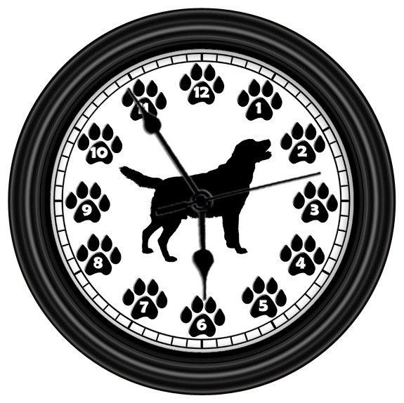 Golden Retriever Silhouette Unique Wall Clock