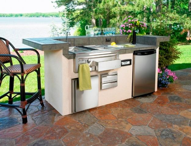 Custom Outdoor Kitchen Island contemporary-outdoor-grills