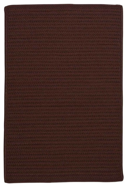 12 Square 12x12 Rug Chocolate Brown Indoor