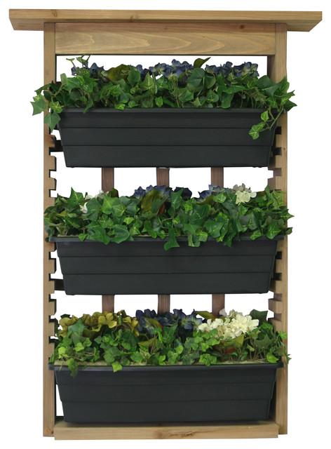 Algreen garden view vertical living wall planter for Outdoor vertical wall garden