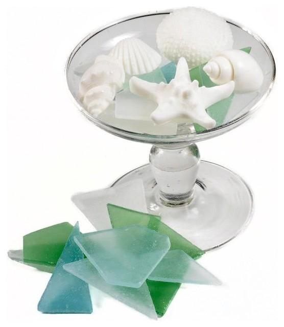 Coastal decor sea glass soap bathroom accessories for Sea glass bathroom design