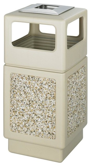 Canmeleon Aggregate Panel Receptacle In Tan Contemporary