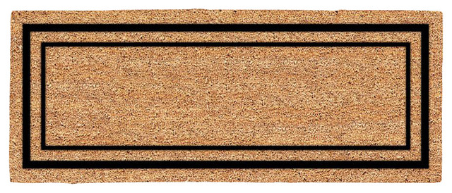 double door classic border door mat 59 x 23 transitional doormats by decoir. Black Bedroom Furniture Sets. Home Design Ideas