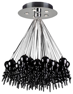 5 Light Black Chandelier Dolce Collection - Contemporary - Chandeliers - by Vertex Electrical ...