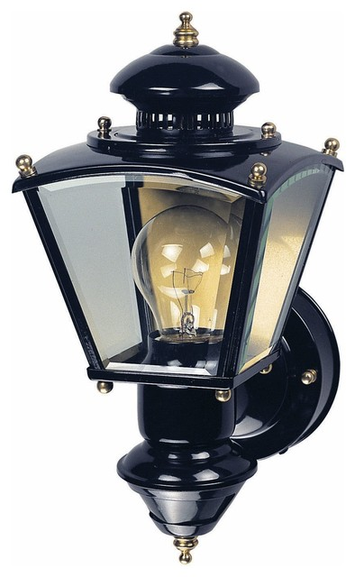 heath zenith hz 4150 bk motion sensor coach light black. Black Bedroom Furniture Sets. Home Design Ideas