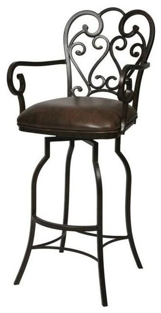 Pastel Furniture Magnolia 26 Inch Swivel Barstool In