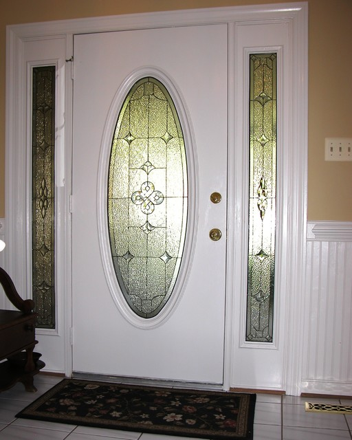 Sidelights Oval Glass For Door Traditional Front Doors