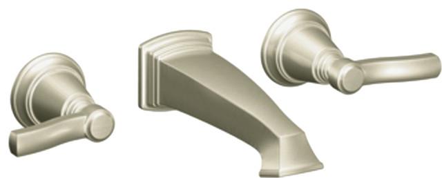 Moen TS6204BN Two Handle Wall Mount Bathroom Faucet Traditional Bathroom