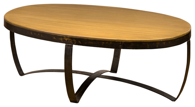 Brandon Coffee Oval Table Antique Gold Coffee Tables By Trendily Home Collection